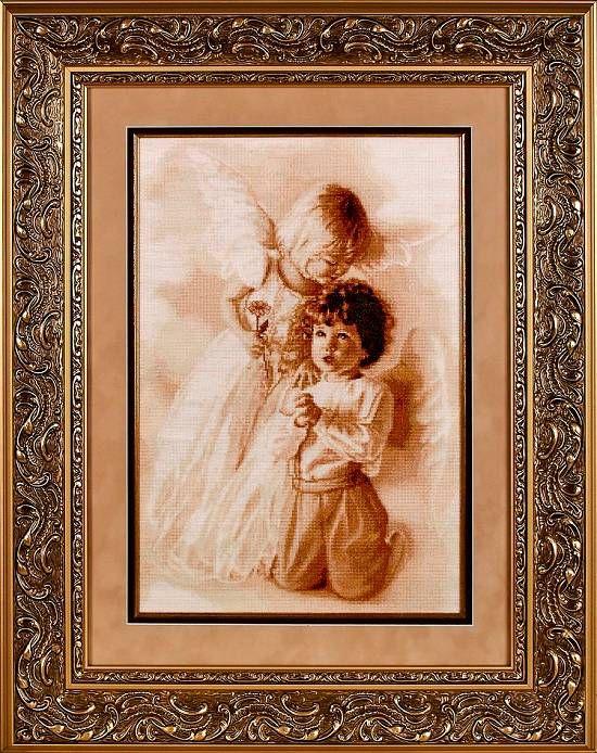 Вышивка крестом молитва ангелов 71